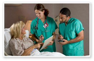 Image of nurses and patient.